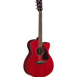 Yamaha FSX800CRR Small body, cutaway acoustic-electric guitar, solid Sitka spruce top, nato back and sides, die-castd