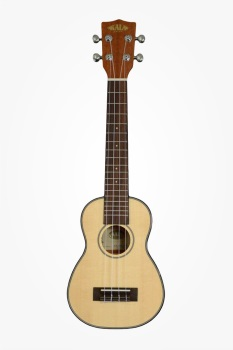 Kala KASSLNG Solid Spruce Top Gloss Soprano Long Neck Ukulele